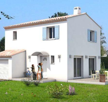 Terrain de 380m² + MAISON + GARAGE à  RAPHELE - constrcuteur de maison - Villas la Provençale